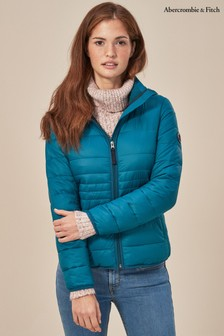 Abercrombie & Fitch Blue Lightweight Quilted Jacket