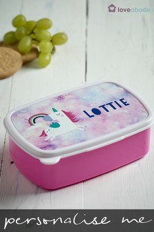 Personalised Unicorn Sandwich Box by Loveabode