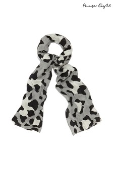 Phase Eight Grey Piera Soft Smudge Print Scarf