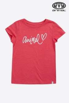Animal Pink Script Graphic Tee