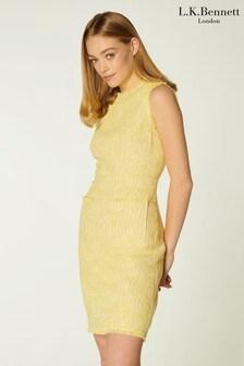 L.K.Bennett Yellow Amalia Dress