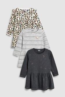 Animal Print Dresses Three Pack (3mths-6yrs)