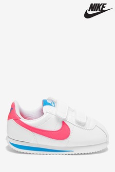 Nike White/Pink Cortez Infant Trainers