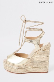 River Island Gold Wedge