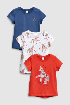 Unicorn Tops Three Pack (3mths-6yrs)