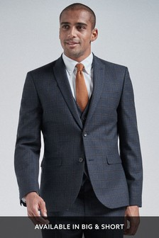 Wool Blend Check Suit
