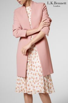 L.K.Bennett Blush Laurela Coat