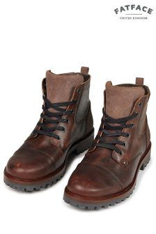 FatFace Brown Abbott Lace-Up Boot