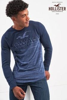 Hollister langärmeliges T-Shirt mit Farbblock-Design
