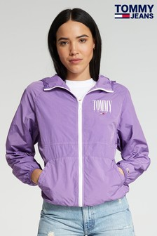 Tommy Jeans Purple Hooded Jacket