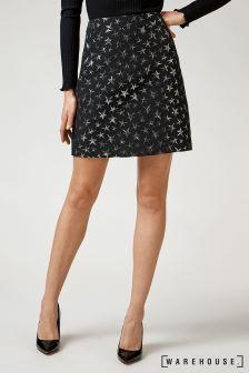 Warehouse Multi Star Jacquard Pelmet Skirt