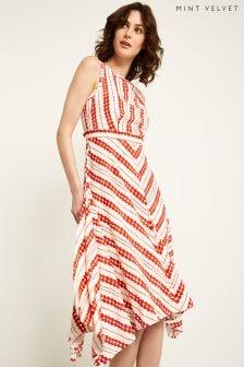 Mint Velvet Anita Print Hanky Hem Dress