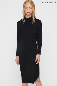 AllSaints Black Sofi Jumper Dress