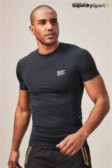 Superdry Sport Black Performance Compression T-Shirt