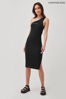 Calvin Klein Jeans Pride Asymmetrical Rib Dress