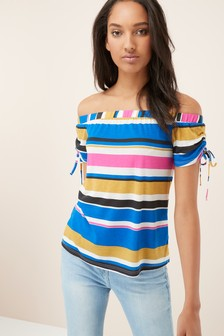 Ruched Bardot Top