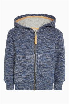 Textured Zip Through Hoody (3mths-6yrs)