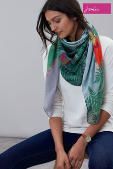 Joules Atmore Square Cotton Scarf