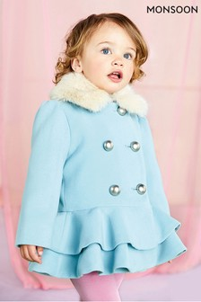 Monsoon Blue Baby Blossom Coat