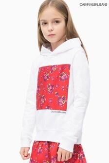 Calvin Klein Jeans Girls Flower Box Hoody