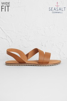 Seasalt Brown Sun Terrace Sandal Wide Fit