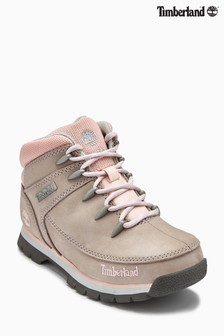 Timberland® Grey/Pink Euro Sprint Lace-Up Hiker Boot