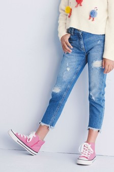 High Waisted Relaxed Fit Jeans (3-16yrs)