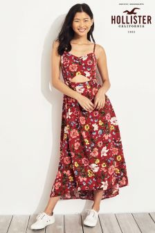 Hollister Red Floral Maxi Dress