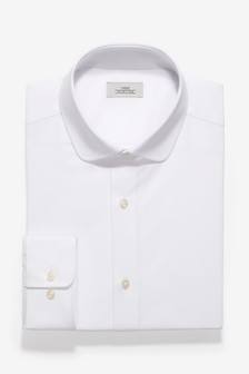 Slim Fit Rounded Collar Shirt