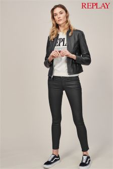 Replay® Luz Coated Low Rise Skinny Jean