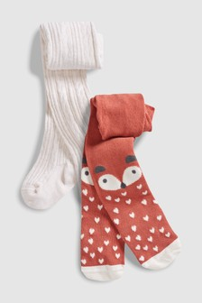 Fox Tights Two Pack (0mths-2yrs)