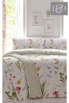 Spring Glade Floral Quilted Bedspread by D&D