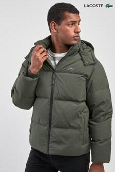 Lacoste® Baobab Green Hooded Padded Jacket