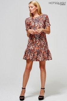 HotSquash Copper Drop Waist Dress