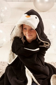 Penguin Hooded Throw