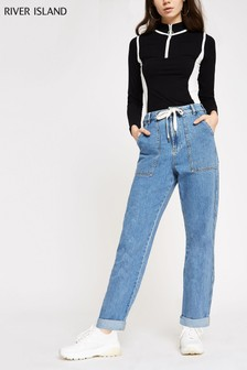 River Island Utility-Jeans in mittlerer Waschung
