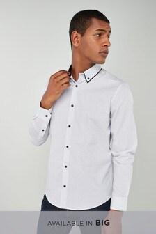 Long Sleeve Double Collar Shirt