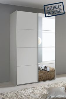 Cameron Grey 1.36m Sliding Wardrobe by Rauch