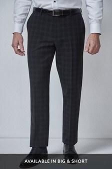 Check Tuxedo Suit: Trousers
