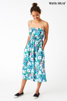 White Stuff Multi Tropical Toucan Bandeau Dress