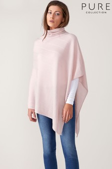Pure Collection Pink Toccato Textured Poncho