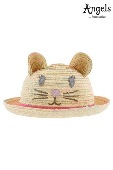 Angels By Accessorize Natural Space Dye Cat Bowler Hat