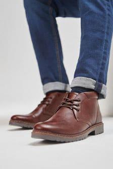 4fa6184e662 Mens Chukka Boots | Leather & Lace Chukka Boots | Next UK
