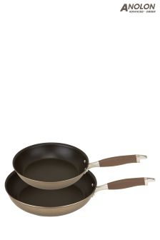 Set of 2 Analon Advanced Umber Frying Pans