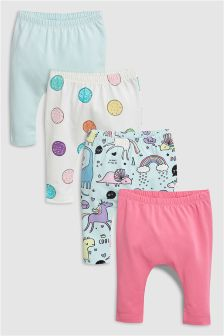 Unicorn Leggings Four Pack (0mths-2yrs)