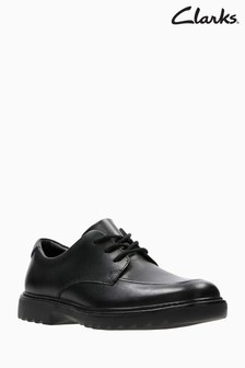 Clarks Youth Black Asher Grove Lace Shoe