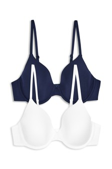 Holly Lightly Padded Modal Full Cup Bras Two Pack