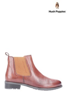 Hush Puppies Tan Gigi Slip-On Chelsea Boots