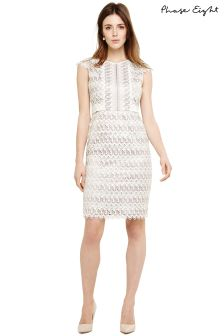 Phase Eight Praline/Cream Ally Layered Lace Dress