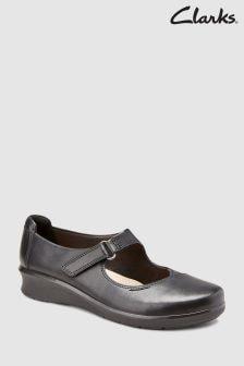 Chaussures babies Clarks Hope Henley Comfort en cuir noir